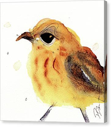 Canvas Print featuring the painting Yellow Warbler by Dawn Derman