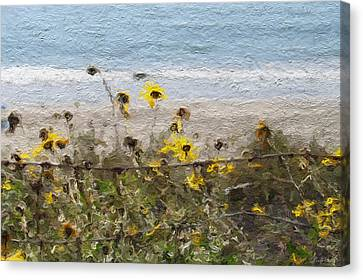 Yellow Wildflowers- Art By Linda Woods Canvas Print
