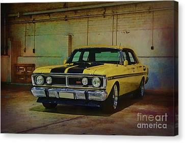 Yellow Xy Falcon Gt Canvas Print by Stuart Row