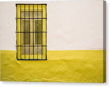 Yellowed Wall Canvas Print