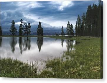 Yellowstone Lake Reflection Canvas Print