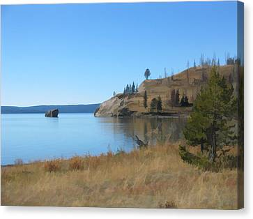 Yellowstone Lake Se Canvas Print