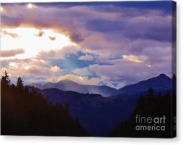 Canvas Print featuring the photograph Yellowstone by Larry Campbell