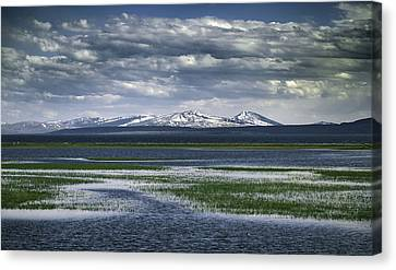 Canvas Print featuring the photograph Yellowstone Mountain Scape by Jason Moynihan