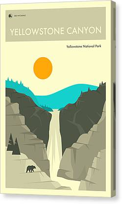 Yellowstone National Park Poster 2 Canvas Print
