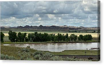 Yellowstone River After The Storm Canvas Print by Aliceann Carlton