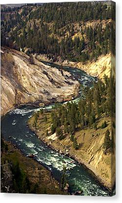 Yellowstone River Canyon Canvas Print by Marty Koch