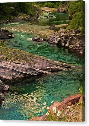 Yellowstone River Scene Canvas Print by Harry Strharsky