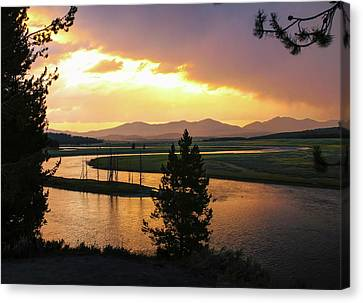 Yellowstone River Sunset Canvas Print
