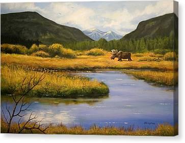 Yellowstone Saga Canvas Print by Brooke Lyman
