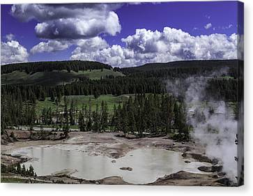 Canvas Print featuring the photograph Yellowstone Tar Pits by Jason Moynihan