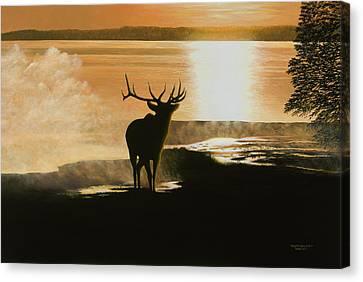Yellowstone's Monarch Canvas Print