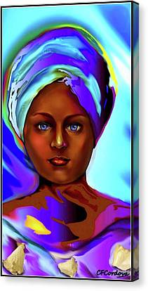 Yemaya -mother Of The Orishas Canvas Print by Carmen Cordova