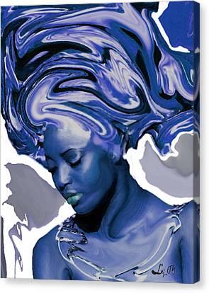 Yemaya Okute Canvas Print by Liz Loz