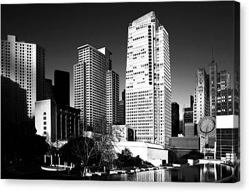 Yerba Buena Garden 2 . Bw Canvas Print by Wingsdomain Art and Photography