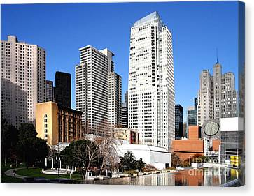 Yerba Buena Garden 2 Canvas Print by Wingsdomain Art and Photography