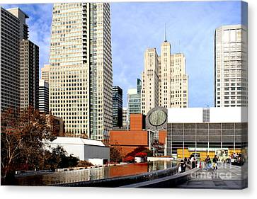Yerba Buena Garden In San Francisco Canvas Print by Wingsdomain Art and Photography