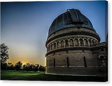 Lake Geneva Wisconsin Canvas Print - Yerken Observatory At Sunset by Sven Brogren