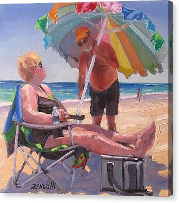 Yes Dear Canvas Print by Laura Lee Zanghetti