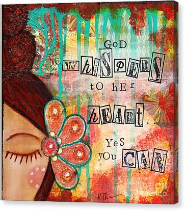 Michelle Canvas Print - Yes You Can by Michelle Thompson