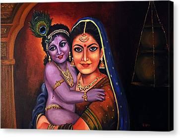 Yeshodha Krishna Canvas Print