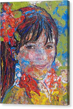 Canvas Print featuring the painting Yessica by Koro Arandia