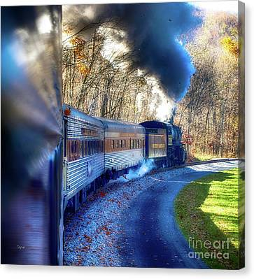 Yesterday By Train  Canvas Print by Steven Digman