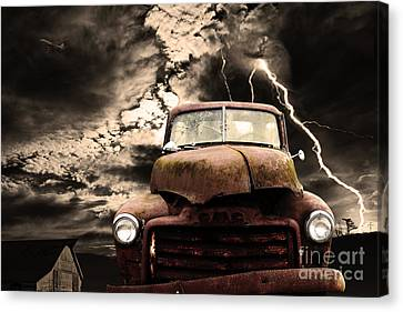 Yesterday Came Early . Tomorrow Is Almost Over Canvas Print by Wingsdomain Art and Photography