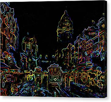 Yesteryear Goes Neon Canvas Print