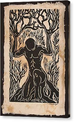 Yggdrasil Canvas Print by Maria Arango Diener