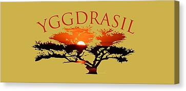 Yggdrasil- The World Tree Canvas Print