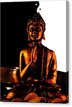 Yin Yang Buddha Canvas Print