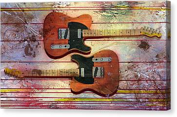 Canvas Print featuring the painting Yin-yang Teles by Andrew King
