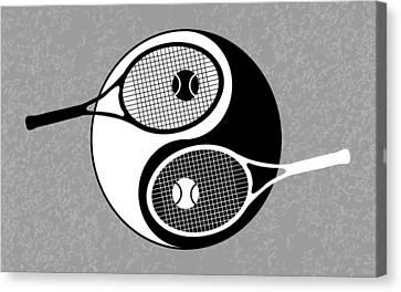 Yin Yang Tennis Canvas Print by Carlos Vieira
