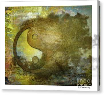 Ying And Yang Unbalanced Canvas Print