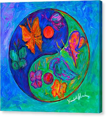 Ying Yang Butterfly Canvas Print by Kendall Kessler