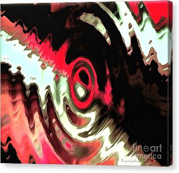 Canvas Print featuring the painting Ying Yang by Catherine Lott