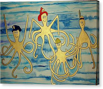 Canvas Print featuring the painting Ymca Octopai by Erika Swartzkopf