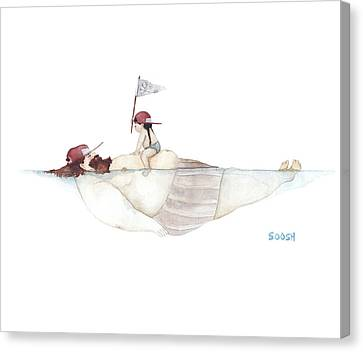Illustrations Canvas Print - Yo Ho Ho by Soosh