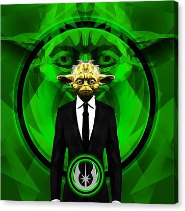 Yoda 10 Canvas Print by Gallini Design