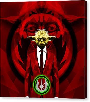 Yoda 6 Canvas Print by Gallini Design