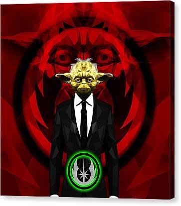 Yoda 7 Canvas Print by Gallini Design