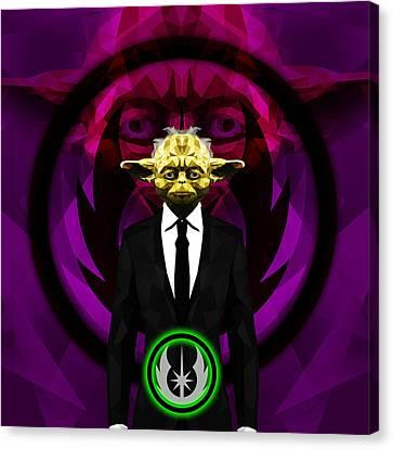 Yoda 9 Canvas Print by Gallini Design