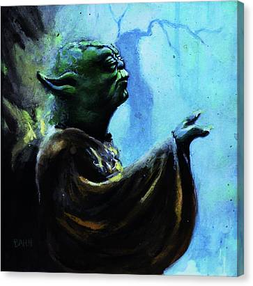 Yoda Canvas Print by Chris Bahn