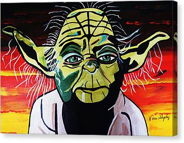 Yoda  Come Home Canvas Print