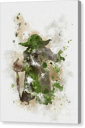 Attack Canvas Print - Yoda by Rebecca Jenkins
