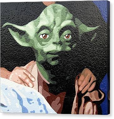 Yoda Canvas Print by Roberto Valdes Sanchez