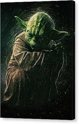 Yoda Canvas Print by Semih Yurdabak
