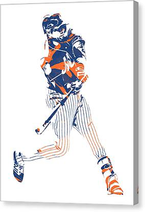 Yoenis Cespedes New York Mets Pixel Art 2 Canvas Print