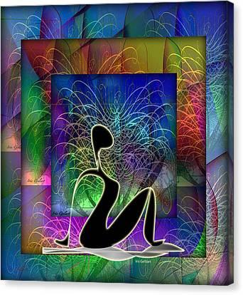 Yoga 6 Canvas Print by Iris Gelbart